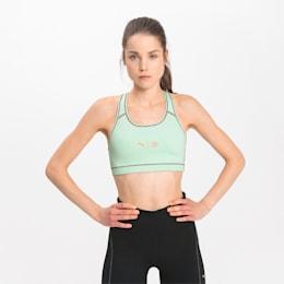 PUMA x FIRST MILE 4Keeps Women's Training Bra, Mist Green-Puma Black, small