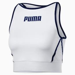 PUMA x PAMELA REIF Women's Bra Top, Puma White, small