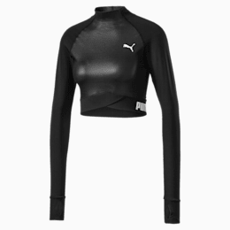 PUMA x PAMELA REIF Long Sleeve Women's Crop Top