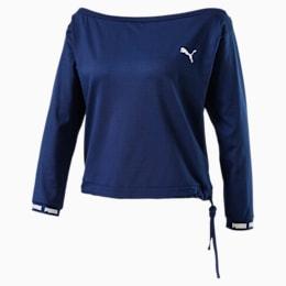 PUMA x PAMELA REIF Off-Shoulder Damen Sweatshirt, Blue Depths, small