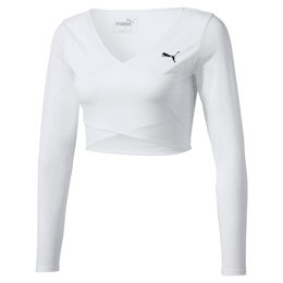 PUMA x PAMELA REIF Cropped Long Sleeve Women's Top