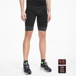 Krótkie męskie legginsy do biegania PUMA by X-BIONIC Twyce, Puma Black-Yellow Alert, small