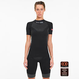 Damska koszulka do biegania z krótkim rękawem PUMA by X-BIONIC Twyce, Puma Black-Pink Alert, small