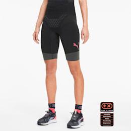 PUMA by X-BIONIC Twyce Short Women's Running Tights, Puma Black-Pink Alert, small