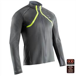 PUMA by X-BIONIC RainSphere Men's Running Jacket, Charcoal Gray-Yellow Alert, small