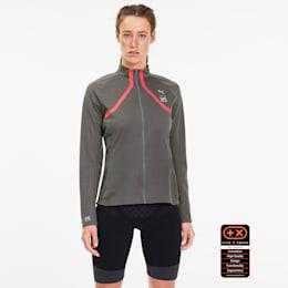 PUMA by X-BIONIC RainSphere Damen Running Jacke, Charcoal Gray-Pink Alert, small