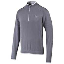 1/4 Zip Sweater, folkstone gray-white, small-IND