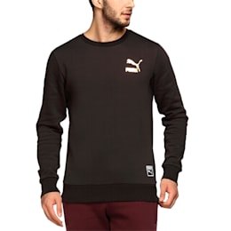 Archive Logo Men's Fleece Sweater, Puma Black, small-IND