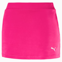 Golf Girls' Solid Knit Skirt, Fuchsia Purple, small-SEA