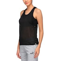 Archive Women's Overlay Tank Top, Puma Black, small-IND