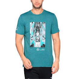 MERCEDES AMG PETRONAS Men's Driver T-Shirt, Deep Teal Heather, small-IND