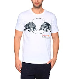 Red Bull Racing Men's Graphic T-Shirt, Puma White, small-IND
