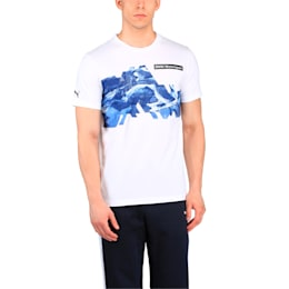 BMW Motorsport Men's Graphic T-Shirt, Puma White, small-IND