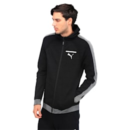 Evolution Men's evoKNIT Full Zip Hoodie, Puma Black, small-IND
