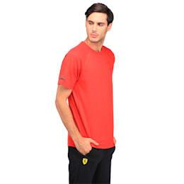 Ferrari Lifestyle Men's Small Shield T-Shirt, Rosso Corsa Heather, small-IND