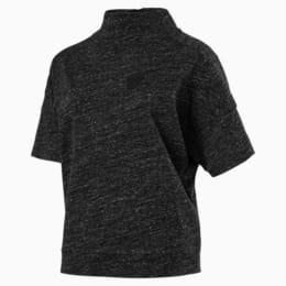 Ferrari Lifestyle Women's Winter T-Shirt, Moonless Night Heather, small-IND
