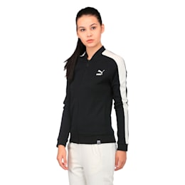 Classics Women's Structured Archive T7 Track Jacket, Cotton Black, small-IND