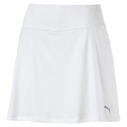 Ensfarvet strikket PWRSHAPE-golfnederdel til kvinder