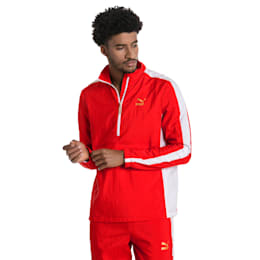 T7 BBoy Track Jacket, Flame Scarlet-white, small