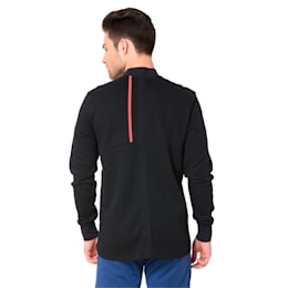 Ferrari Sweat Men's Jacket, Puma Black, small-IND
