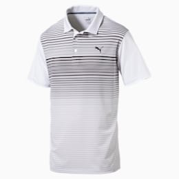 Highlight Stripe Polo Shirt, quarry, small-SEA