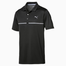 Golf Men's Nardo Grey Polo, Puma Black, small-IND