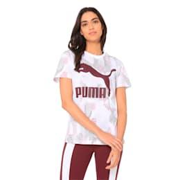 Classics All-Over Print Logo Women's Tee, Puma White, small-IND