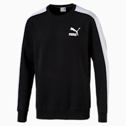 Classics Men's T7 Logo Sweater, Puma Black, small-IND