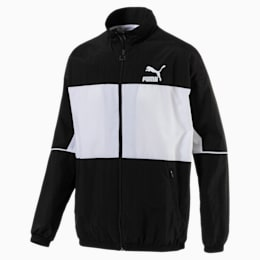 Retro Woven Track Jacket, Puma Black, small-IND