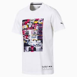 Red Bull Racing Lifestyle Men's Graphic T-Shirt, Puma White, small