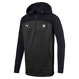 BMW M Motorsport evoKNIT Men's Half Zip Pullover, Puma Black Heather, small