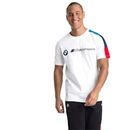BMW M Motorsport Men's T7 T-Shirt, Puma White, small