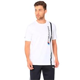 BMW M Motorsport Men's Logo T-Shirt, Puma White, small-IND