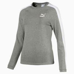Camiseta de mangas largasClassics T7, Medium Gray Heather, pequeño