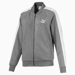 Classics T7 Women's Track Jacket, Medium Gray Heather, small