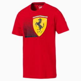 Ferrari Men's Big Shield T-Shirt, Rosso Corsa, small-IND