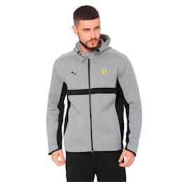 Ferrari Men's Hooded Sweat Jacket, Medium Gray Heather, small-IND