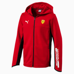 Ferrari Hooded Boys' Sweat Jacket, Rosso Corsa, small-IND