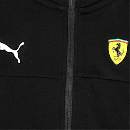 Ferrari Hooded Boys' Sweat Jacket, Puma Black, small-IND