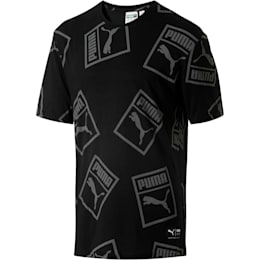 Graphic Downtown T-Shirt, Cotton Black, small