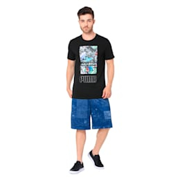 Photoprint Shoe Tee, Cotton Black, small-IND