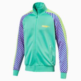 T7 Pop Zip-Up Men's Track Jacket, Biscay Green, small