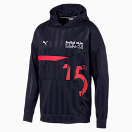 Red Bull Racing Lifestyle Men's Hooded Midlayer, NIGHT SKY, small