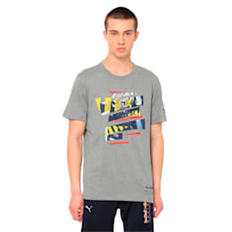 Red Bull Racing Life Graphic Men's Tee, Medium Gray Heather, small-IND