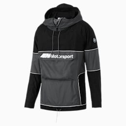BMW Motorsport RCT Woven Hooded Men's Jacket, Puma Black, small