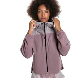 Ferrari Hooded Women's Sweat Jacket, Elderberry, small-IND