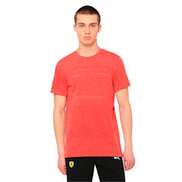Ferrari evoKNIT Short Sleeve Men's Tee, Rosso Corsa, small-IND