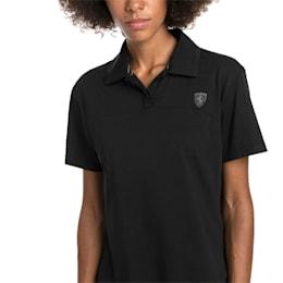 Camiseta tipo polo Scuderia Ferrari para mujer, Puma Black, pequeño