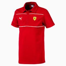 Camiseta tipo polo Scuderia Ferrari JR para niño, Rosso Corsa, pequeño