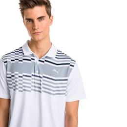Road Map Men's Golf Polo, Bright White-Puma Black, small